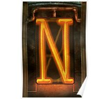 Steampunk - Alphabet - N is for Nixie Tube Poster