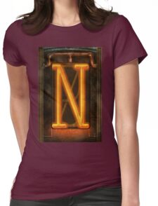 Steampunk - Alphabet - N is for Nixie Tube Womens Fitted T-Shirt