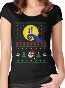 Spooky Christmas Women's Fitted Scoop T-Shirt