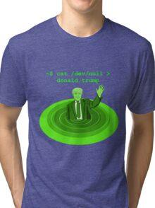 cat /dev/null Donald Trump Tri-blend T-Shirt