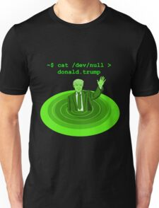 cat /dev/null Donald Trump Unisex T-Shirt
