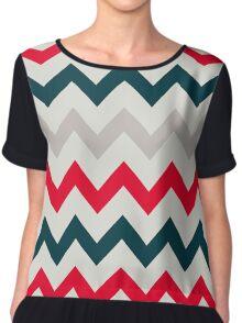 Chevron pattern. Pattern with zigzag Chiffon Top