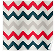 Chevron pattern. Pattern with zigzag Poster
