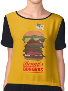 Benny's Burger Chiffon Top