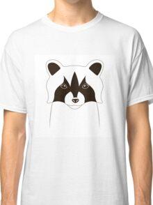Cute raccoon face Classic T-Shirt