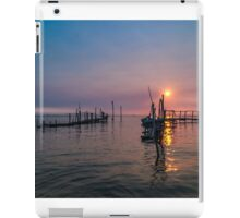 Old dock sunrise iPad Case/Skin