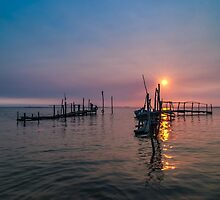 Old dock sunrise by homydesign