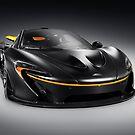 Black McLaren P1 plug-in hybrid supercar sports car art photo print by ArtNudePhotos