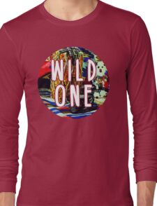 Wild One Native American Watercolor Long Sleeve T-Shirt