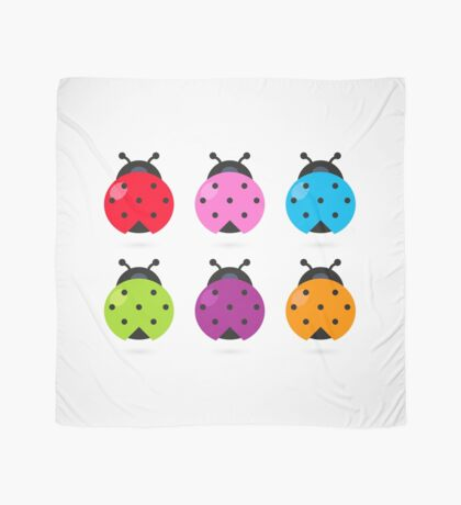 Stylized colorful Ladybugs collection Scarf