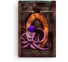 Steampunk - Alphabet - O is for Octopus Canvas Print