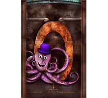 Steampunk - Alphabet - O is for Octopus Photographic Print