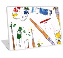 Paint and Brushes Laptop Skin
