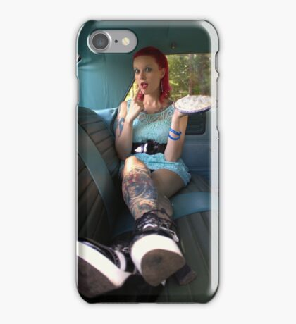 Pie in the back seat iPhone Case/Skin