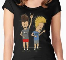 Beavis & Butthead headbang Women's Fitted Scoop T-Shirt