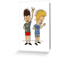 Beavis & Butthead headbang Greeting Card