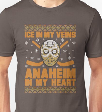 Ice in my Veins ANAHEIM Hockey In My Heart Unisex T-Shirt