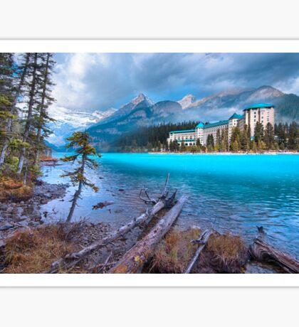 Dreamy Chateau Lake Louise Sticker