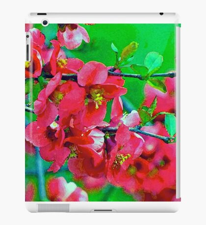 Dry Brush Flowers iPad Case/Skin
