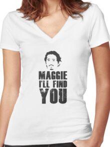 Glenn - Maggie, i'll find you Women's Fitted V-Neck T-Shirt