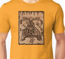 Communication ink pen drawing on wood Unisex T-Shirt