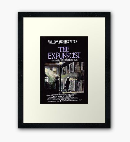 The Expurrcist - The scariest film of all time. Framed Print