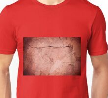 old cracked paint texture damaged wall Unisex T-Shirt