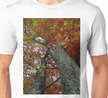 Locked in the darkened world..Made to never last..That's where the dreams you seek are like stories from the past..The leaves will be falling fast Unisex T-Shirt
