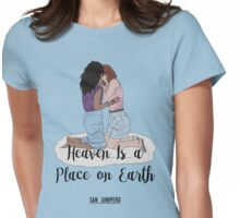 Heaven Is a Place on Earth - San Junipero - Kelly and Yorkie (Black) Womens Fitted T-Shirt