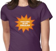 THIS GIRL IS ON FALLAS Womens Fitted T-Shirt