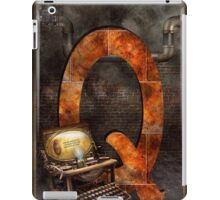 Steampunk - Alphabet - Q is for Qwerty iPad Case/Skin