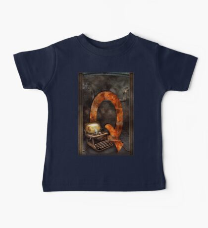 Steampunk - Alphabet - Q is for Qwerty Baby Tee