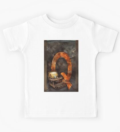 Steampunk - Alphabet - Q is for Qwerty Kids Tee