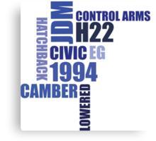 1994 civic eg mod collage Canvas Print