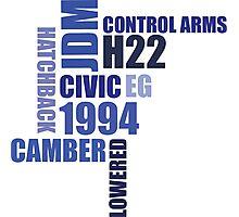 1994 civic eg mod collage Photographic Print