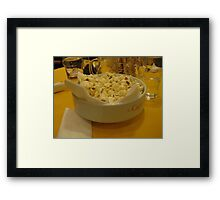 When in Rome... Find Popcorn! Framed Print
