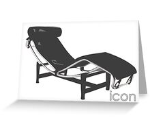 Le Corbusier Chaise-Longue Greeting Card