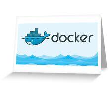 docker mug Greeting Card