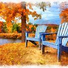 Autumn Splendor Watercolor by Edward Fielding