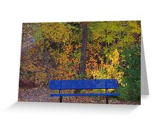 Fall bench Greeting Card