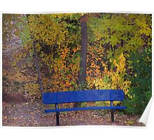 Fall bench Poster