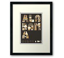 Typographic Alabama State Poster Framed Print