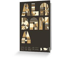 Typographic Alabama State Poster Greeting Card