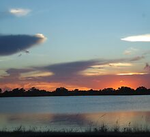 Sunset Over the Lake by edlineuser