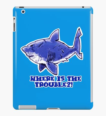 great white shark the problem solver iPad Case/Skin