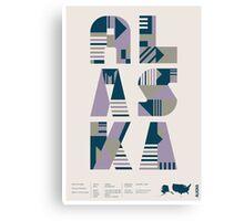 Typographic Alaska State Poster Canvas Print
