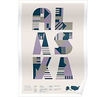 Typographic Alaska State Poster Poster