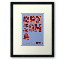 Typographic Arizona State Poster Framed Print