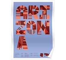 Typographic Arizona State Poster Poster