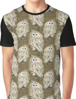 Owl Bw Sepia Art Graphic T-Shirt